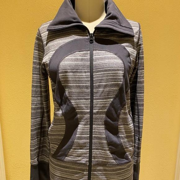 lululemon athletica Jackets & Blazers - Lululemon Grey and White Striped Jacket